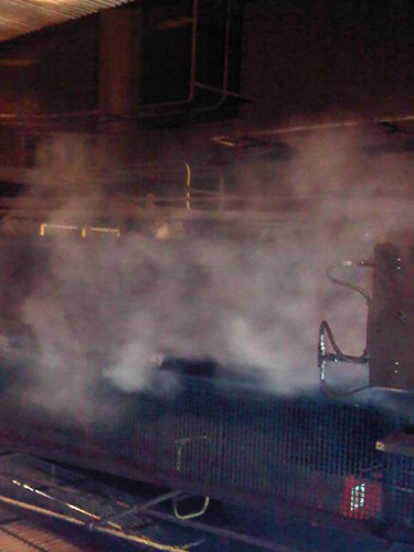 Misting System On Coal Transfer Point