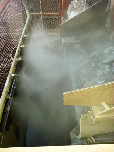 Transfer Point Dust Suppression
